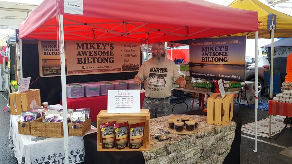 Mikey's Awesome Biltong Stall at the Markets