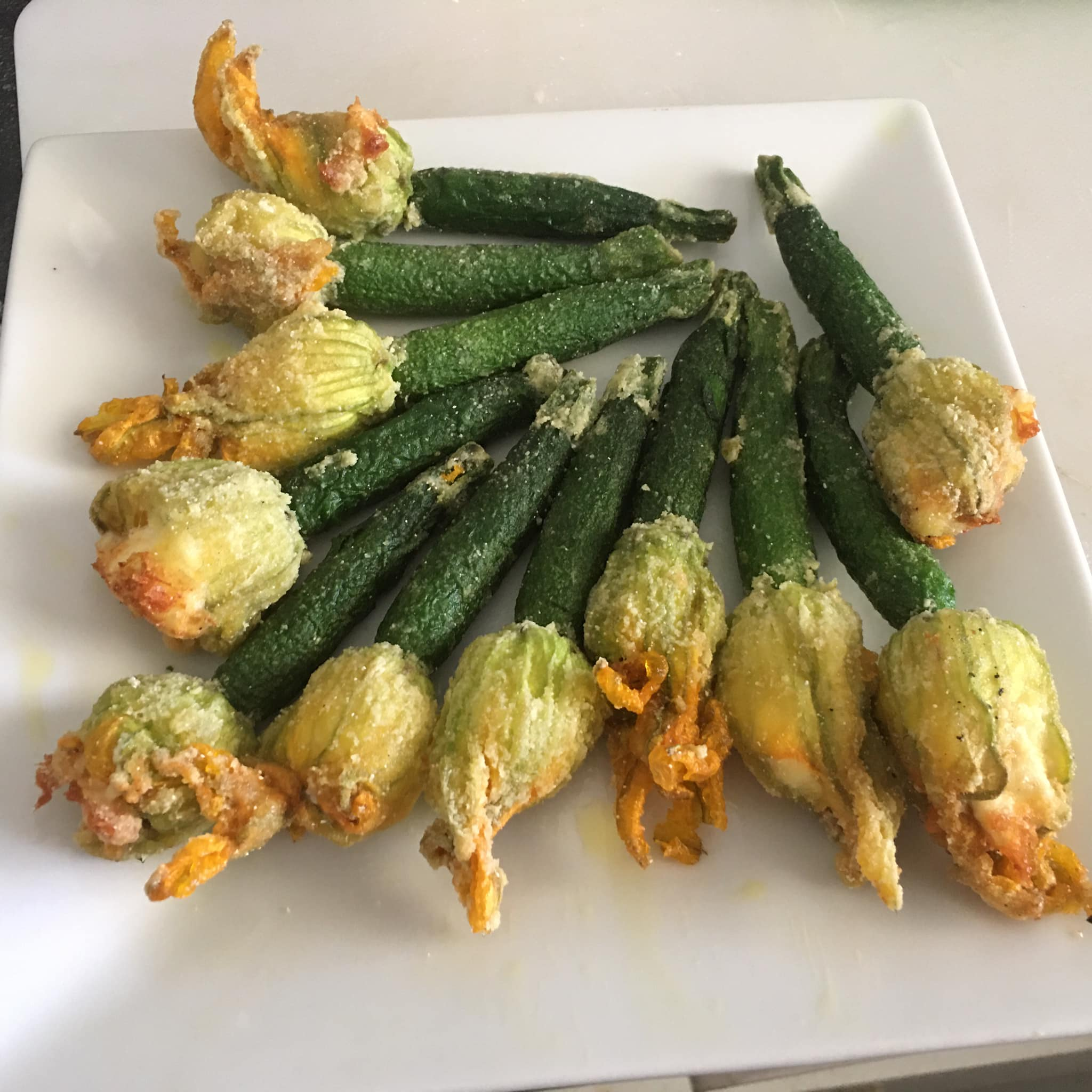 Stuffed Zucchini Flowers with Ricotta
