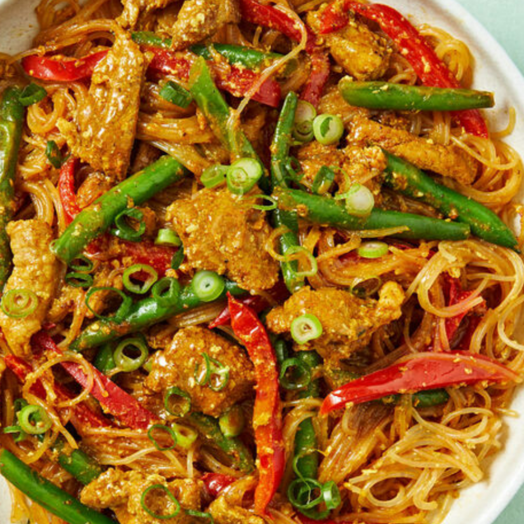 Low-Cal Pork Singapore Noodles