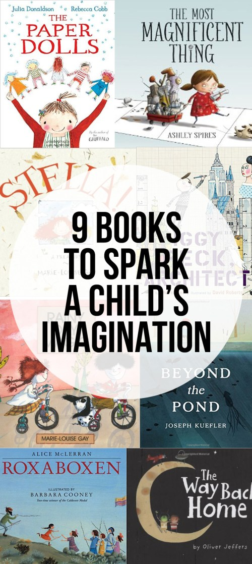 9 books with characters with great imagination that will help spark imagination in children.