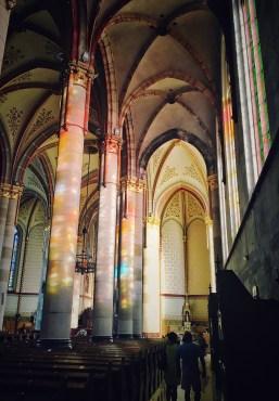Inside of St. Elizabeth Church in Budapest