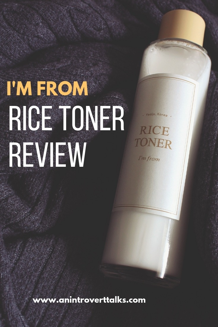 I'm From Rice Toner Review