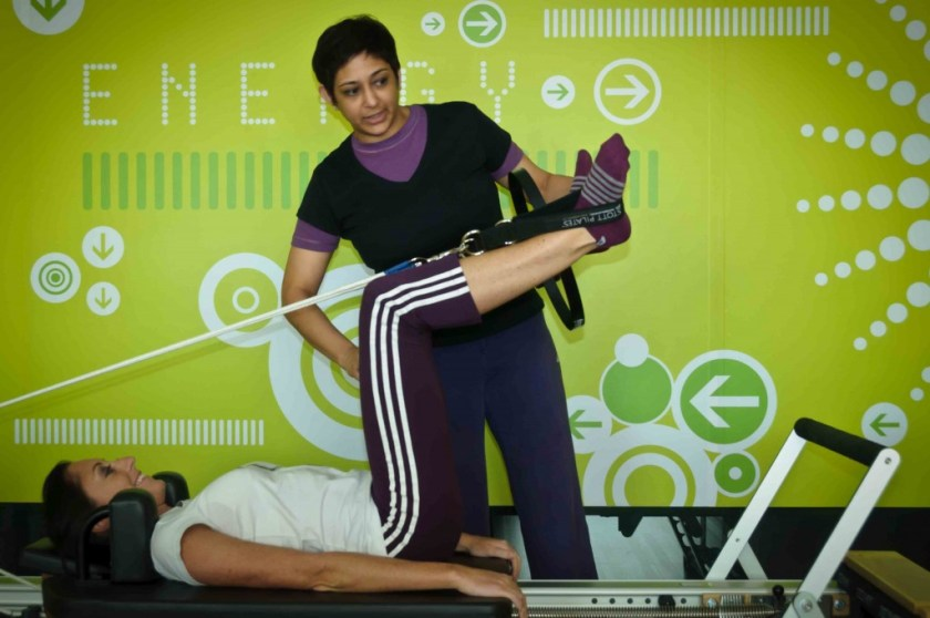 Pilates exercise session at Zone