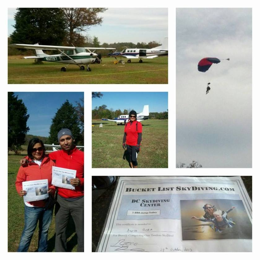 Our sky diving experience at the DC Tandem Sky Diving Center