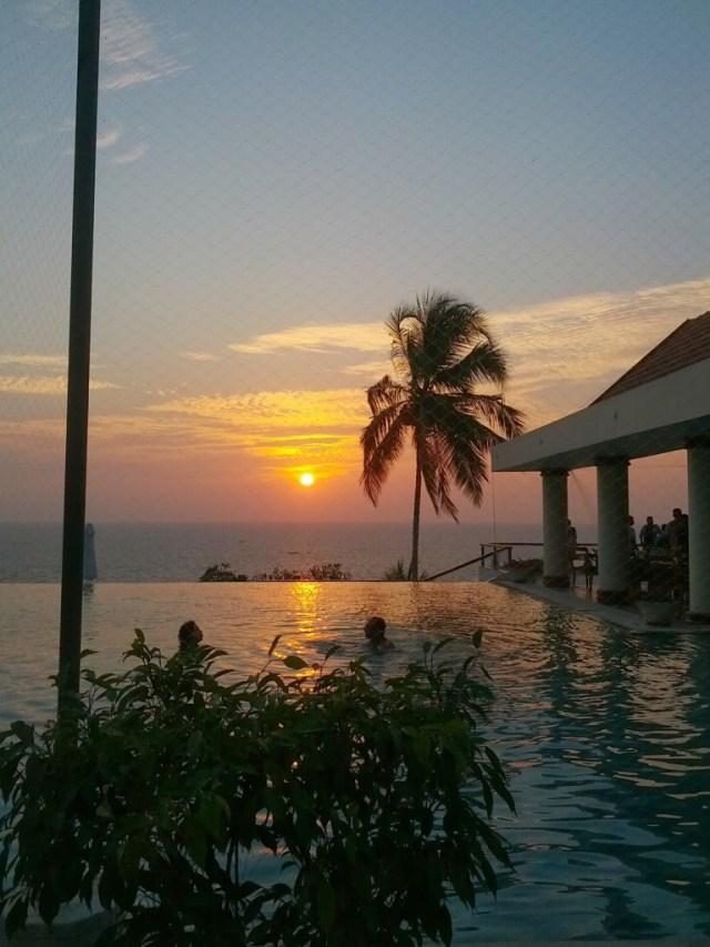 Sunset at the Leela, Kovalam