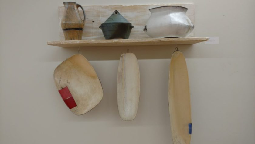 Work on display by the resident clay artist at Penland, Tom Jaszczak