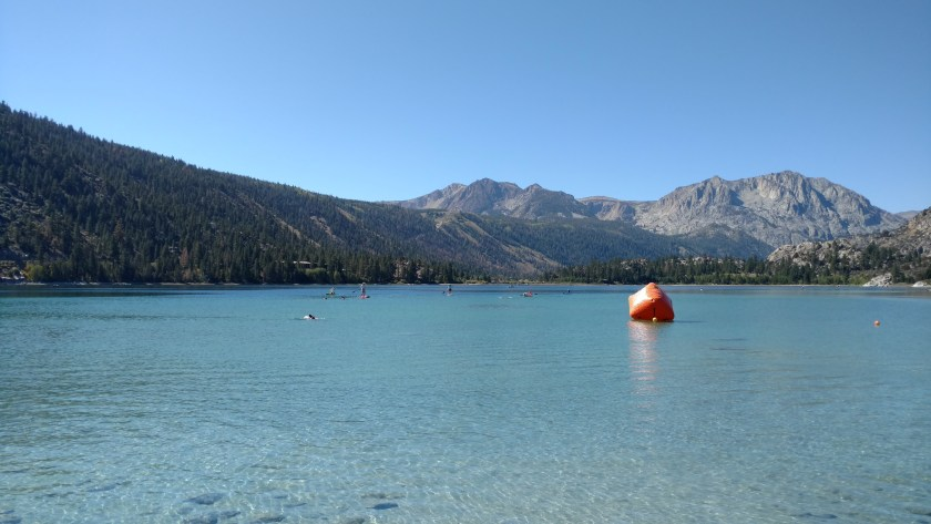 June Lake - a scenic location for the swim