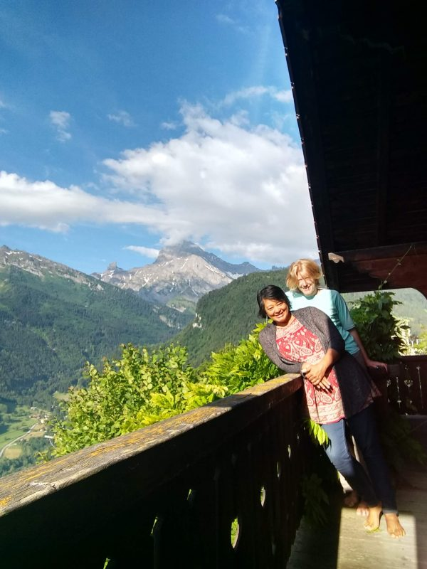Stephanie and I, enjoying a day out in her mountain chalet