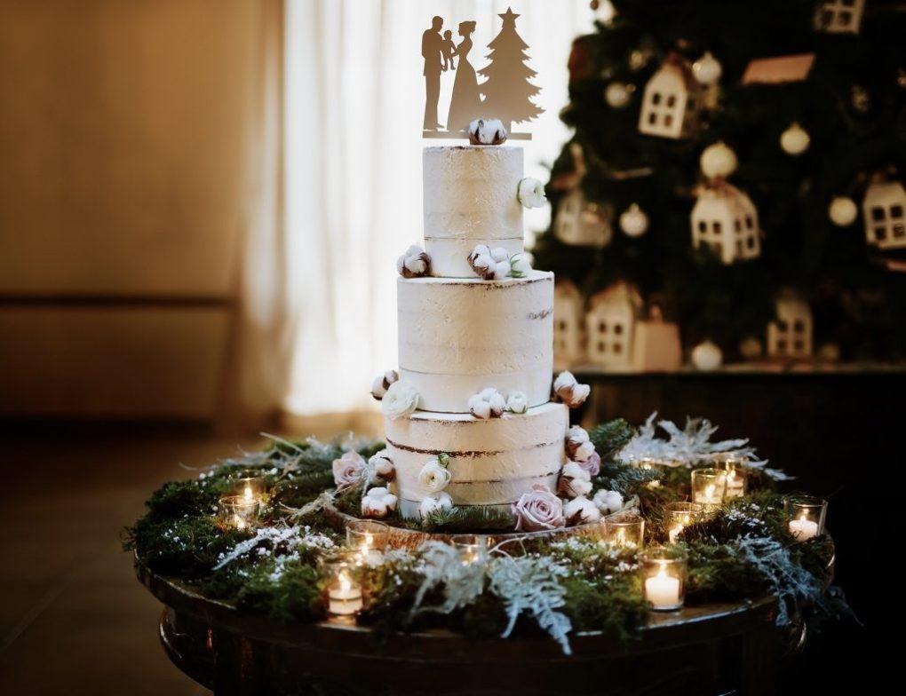 matrimonio invernale torta