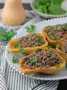 Butternut Squash stuffed with Beef and Proscitutto