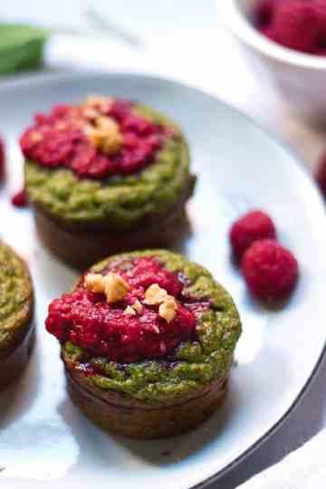 Muffins de Courgette e Espinafres