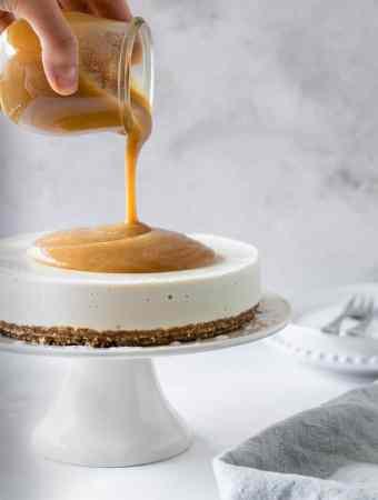 Cheesecake vegan caramelo tamaras