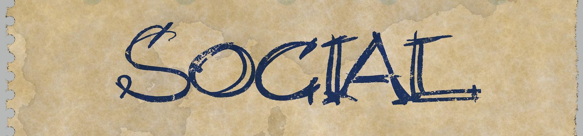 Social written on paper