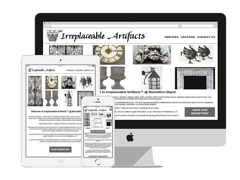 AnitaM Web Design - Irreplaceable Artifacts