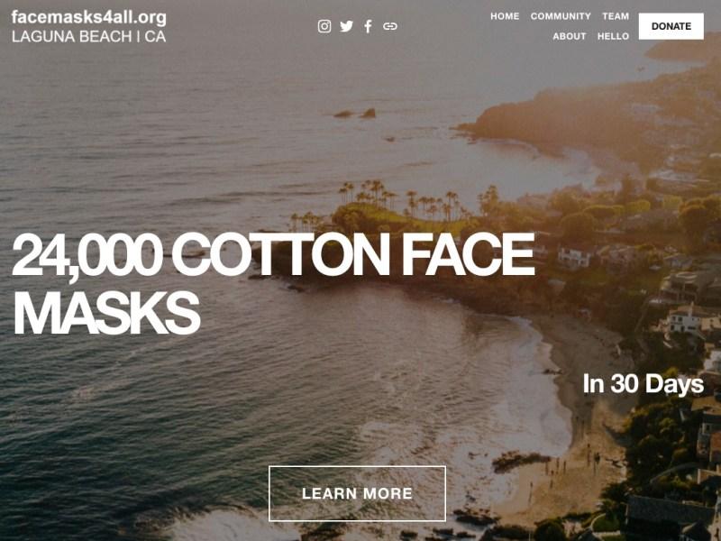 Laguna Beach's Face Masks 4 All