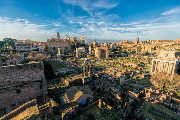 FORUM ROMANUM AND THE MAGIC COLOURS