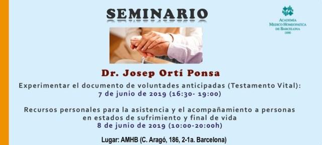 Seminario del doctor Josep Ortí socio colaborador de Anitya.
