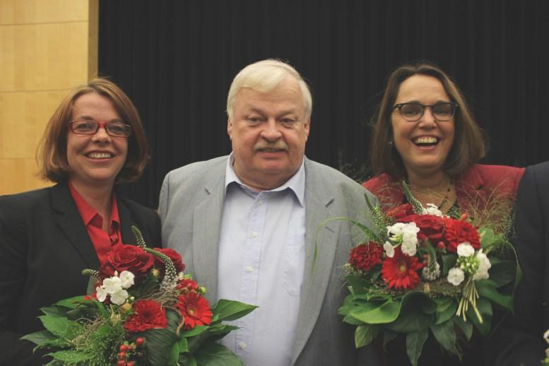 Der Alte und die Neue: Guntram Schneider und Nadja Lüders gratulierten der Landtagskandidatin Anja Butschkau