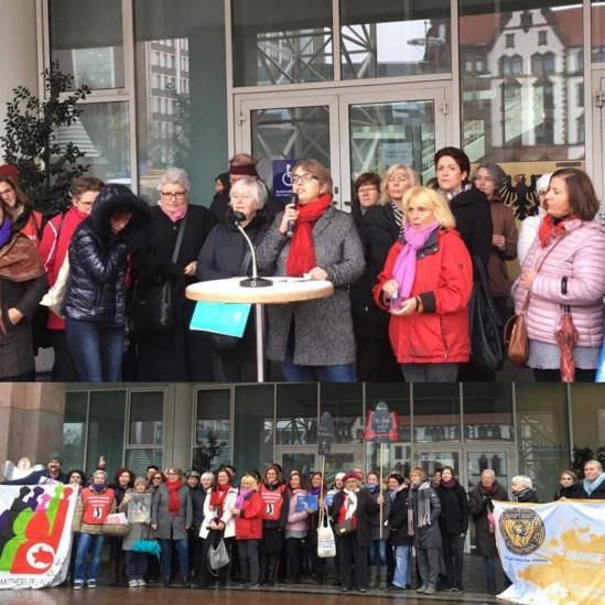 Gewalt gegen Frauen Fahnenhissen Rathaus Dortmund, 24.11.2018