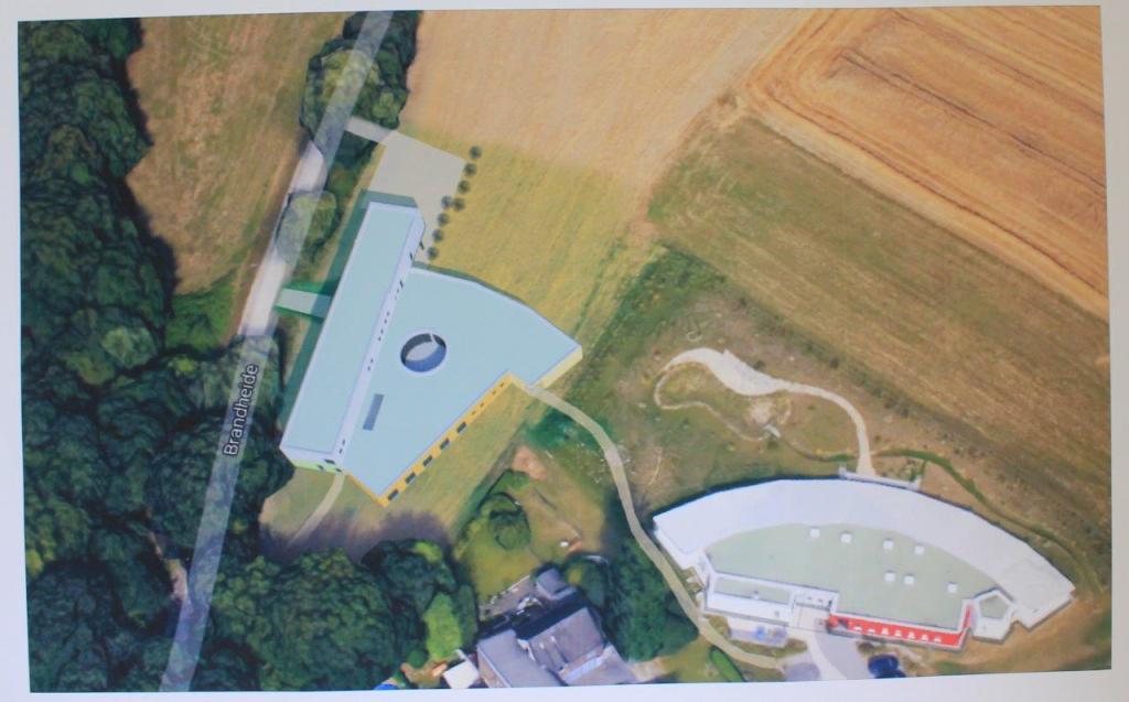 Luftbild Entwurf Gebäude Kinderhospiz Sonnenherz