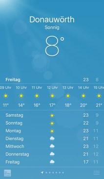 Wettervorhersage für Freitag (06.05.2016)