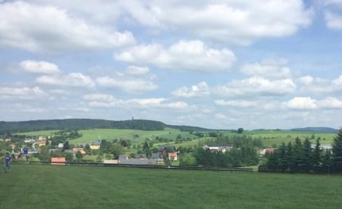 Panoramablick von der Buchenparkhalle aus ins Hinterland