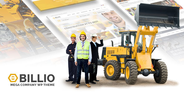 Download Theme WordPress Untuk Perusahaan Company Profile Alat Berat Heavy Equipment Construction Sparepart Manufacturing