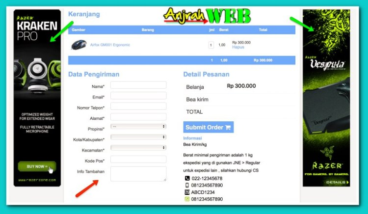 Theme Toko Online Minimalis WordPress yang Shopping Cartnya Keren & Simpel
