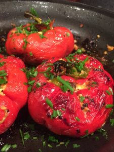 red bell peppers, paneer, indian food, masalas, cooking, desi khana
