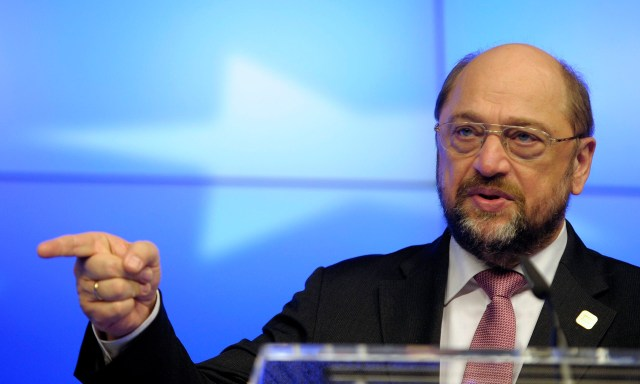 Martin Schulz, EU parliament president, said a new deal of particular roads is wishful thinking