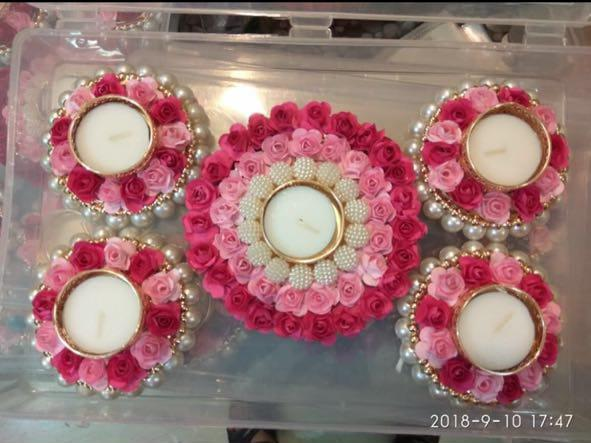 Tea Lights Rangoli