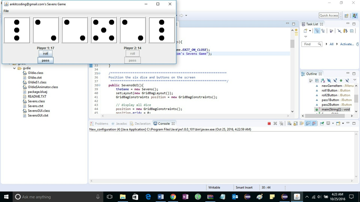 SOLVED: Project 3 Sevens: A Dice Game - ankitcodinghub