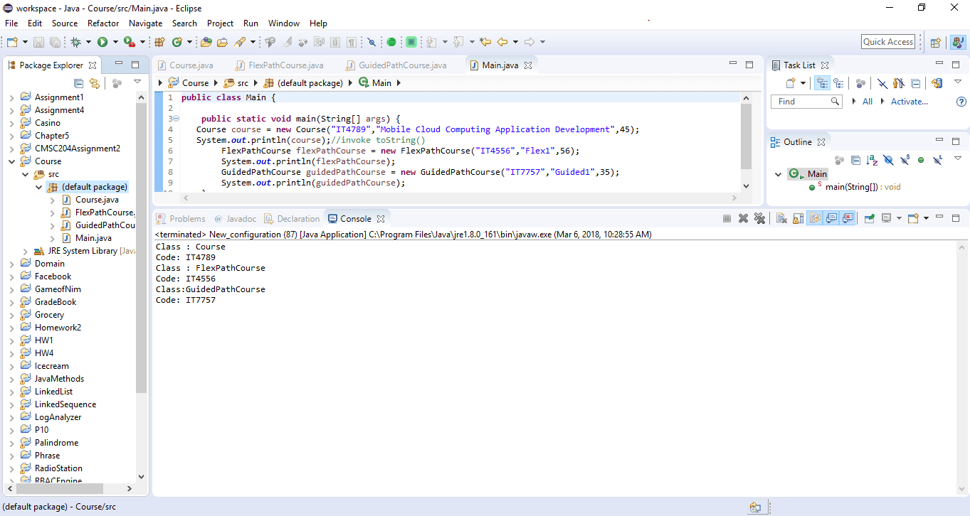 Application to define a Java class called Course - ankitcodinghub