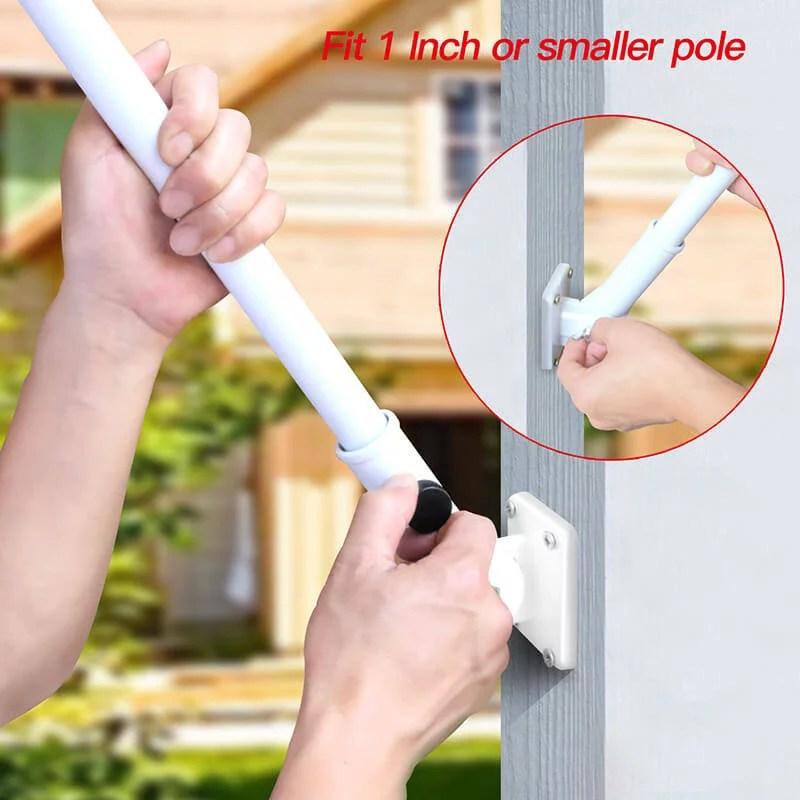 Flagpole mounting bracket