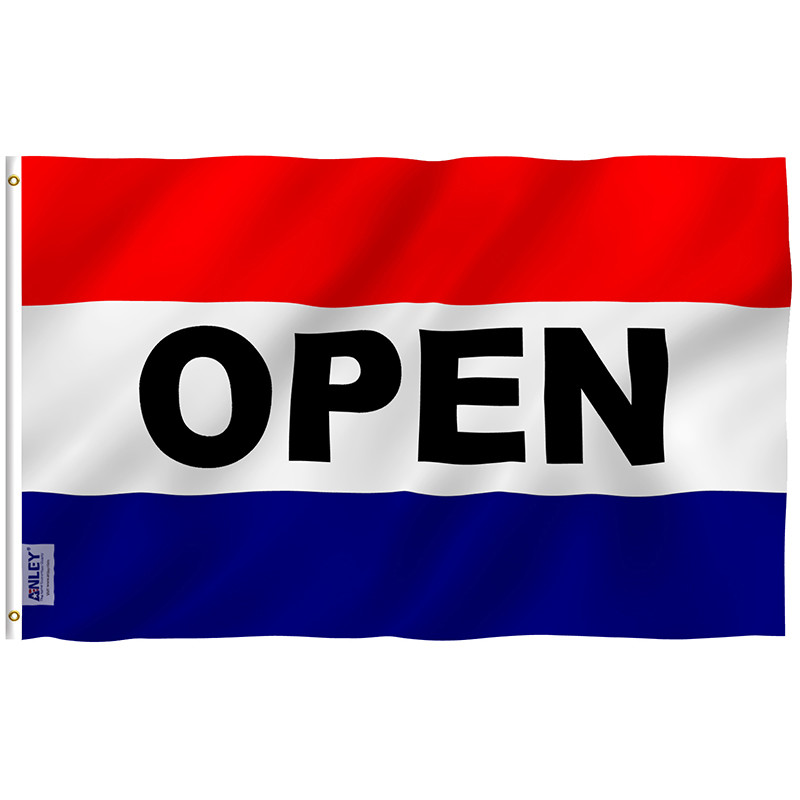 Open sign flag