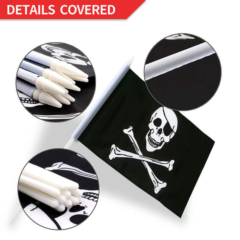Pirate flag stick flag