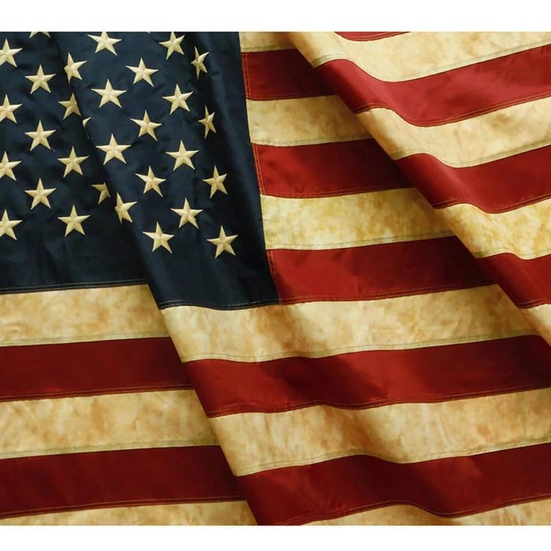 Tea Stained USA Nylon Flag