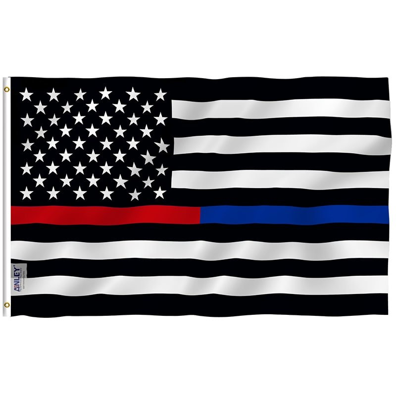 Thin blue and red line flag