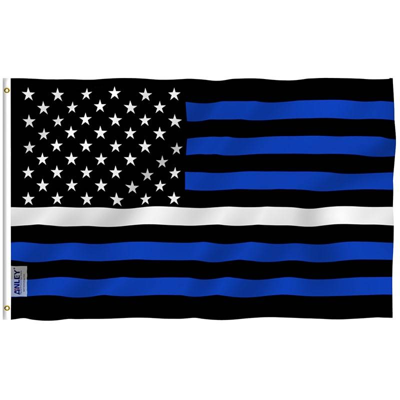 Thin white line us flag