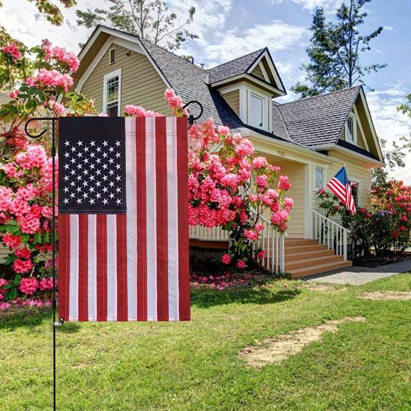 USA Embroidered Garden Flag