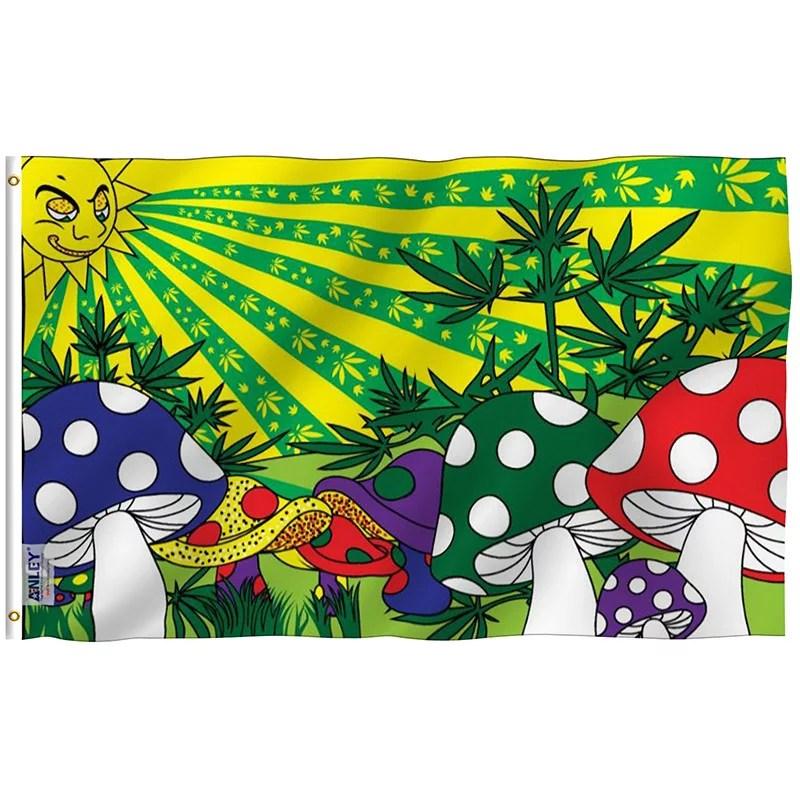 Marijuana Mushroom Flag