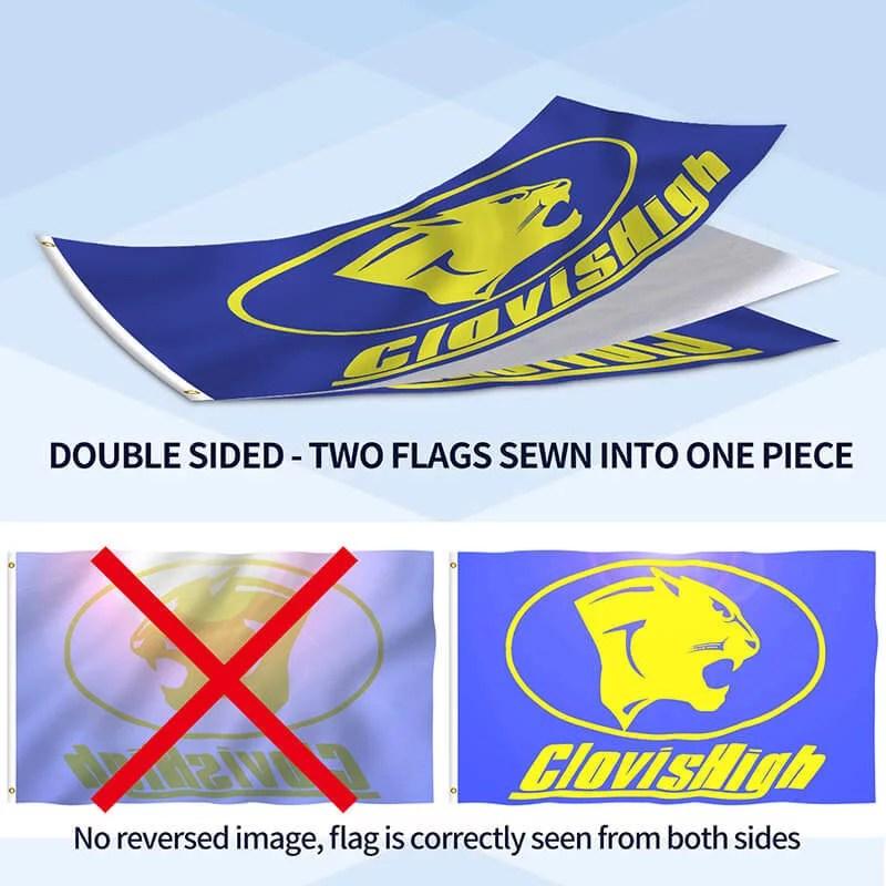custom flag double side