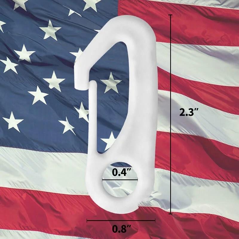flagpole clip snap hooks