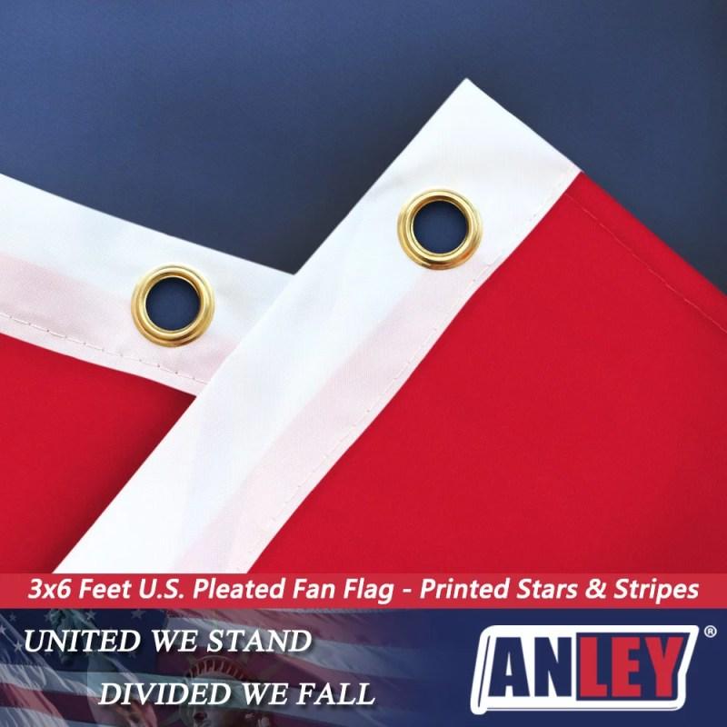 us pleated fan flag