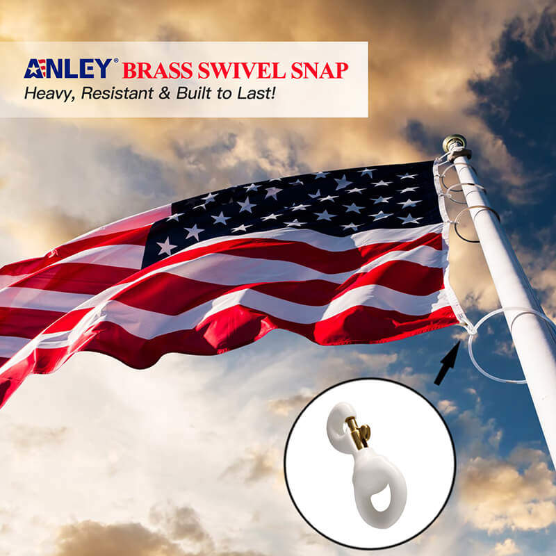 White Rubber Coated Brass Swivel Snap Hook