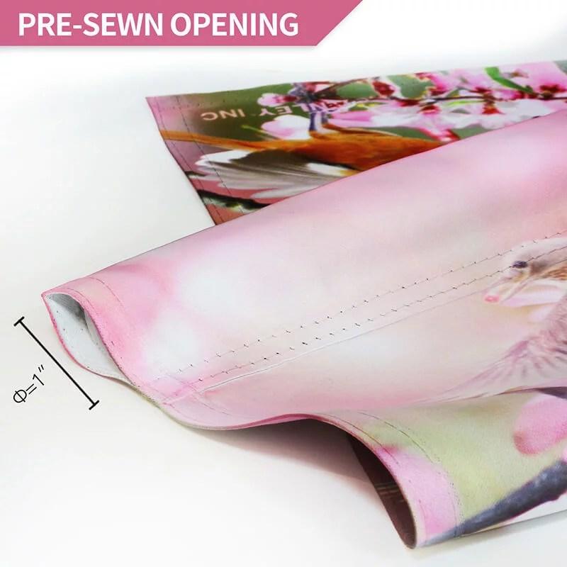 Flower bird garden flag sewn