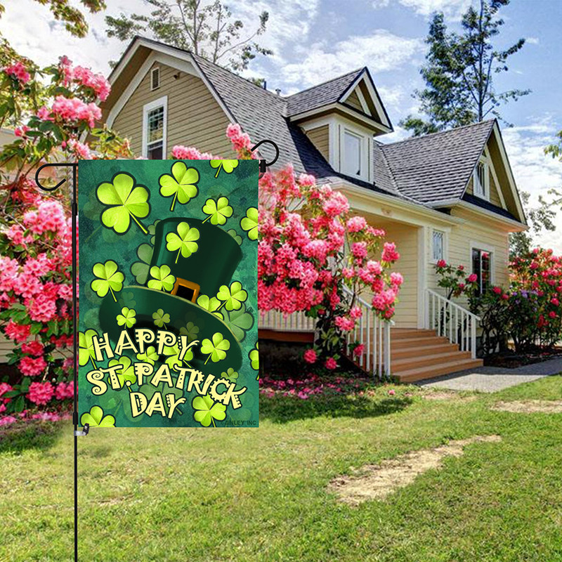 St patrick day garden flag