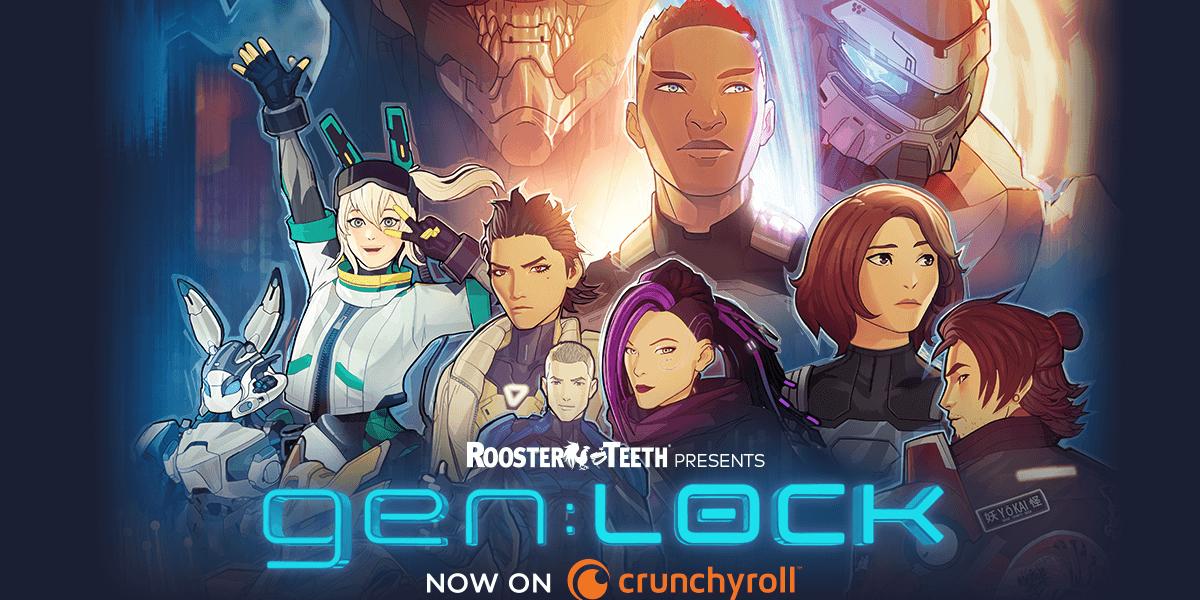 imagen anuncio gen:LOCK Rooster Teeth Crunchyroll
