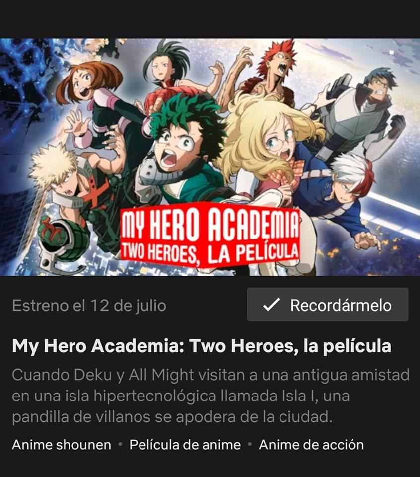 Boku No Hero Academia: Futari No Hero ya tiene fecha de estreno en Netflix