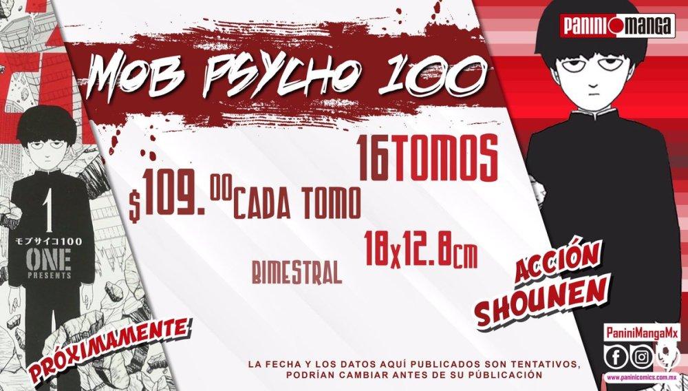 El manga Mob Psycho 100 llega a México